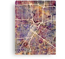Houston Texas City Street Map Canvas Print