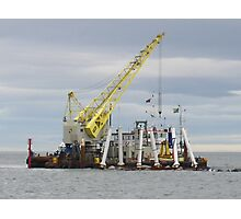Working offshore Photographic Print