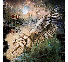 Apocalyptic Angel (Green/Blue) Photographic Print