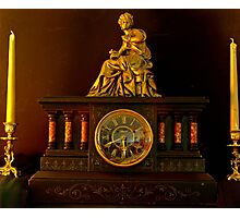 Mantlepiece Clock Photographic Print