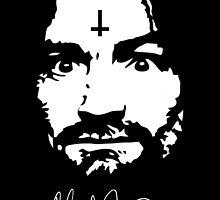 Charles Manson - Signature - Manson Family  by Charles Manson
