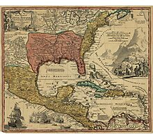 Map of Mexico, New England, Carolina, Virginia, Pennsylvania (1759) Photographic Print