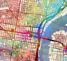 Philadelphia Pennsylvania City Street Map Sticker