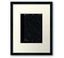 USGS Topo Map Oregon Green Mountain 20110818 TM Inverted Framed Print
