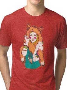 Fox Girl Tri-blend T-Shirt