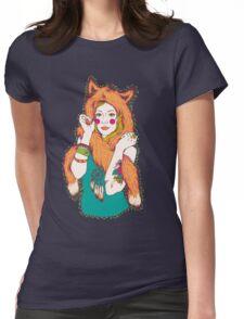 Fox Girl Womens Fitted T-Shirt
