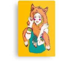 Fox Girl Metal Print