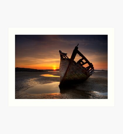 Wreck at Sunset • Bunbeg, Co Donegal Art Print