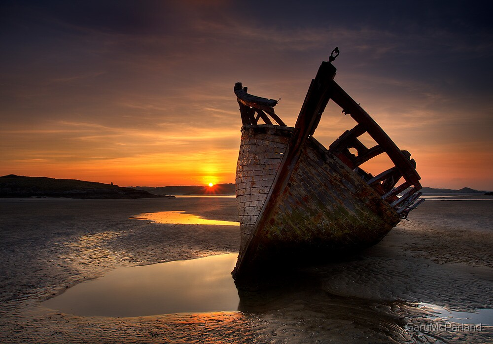 Wreck at Sunset • Bunbeg, Co Donegal by GaryMcParland