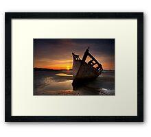Wreck at Sunset • Bunbeg, Co Donegal Framed Print