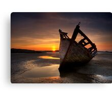Wreck at Sunset • Bunbeg, Co Donegal Canvas Print