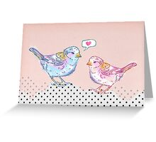 Love Chirp Greeting Card
