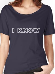 """Star Wars - Leia and Han """"I know."""" Women's Relaxed Fit T-Shirt"""