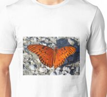 An unusually bright colored gulf fritillary butterfly Unisex T-Shirt