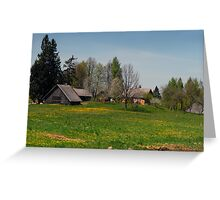 Spring in old farmstead (Yellow house) Greeting Card