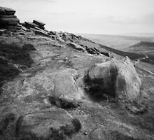 Higger Tor, looking towards Carl Wark by Andy Stafford
