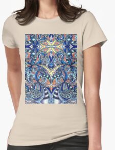 Drawing Floral Zentangle Womens Fitted T-Shirt
