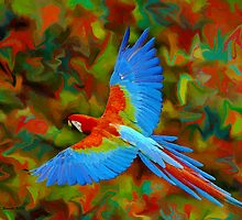 Flying Parrot by artstoreroom