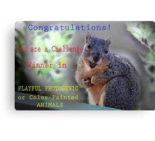CHALLENGE WIN BANNER Canvas Print