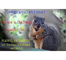 CHALLENGE WIN BANNER Photographic Print