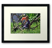 KIDS MESSING AROUND. BECAUSE THEY CAN'T AFFORD A XBOX 360. Framed Print
