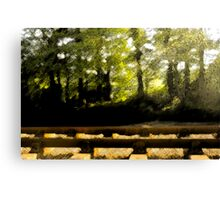 River, Road, and Rail.. Canvas Print