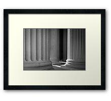 Archives Columns Framed Print