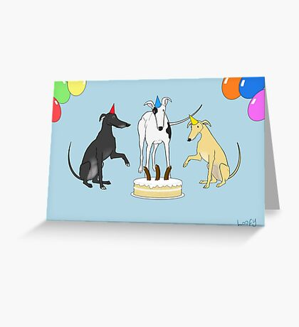 Divided by Three Greeting Card