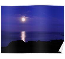 Romantic Moon Poster