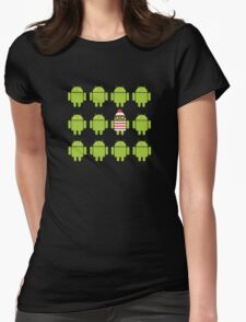 Where's Waldroid? Womens Fitted T-Shirt