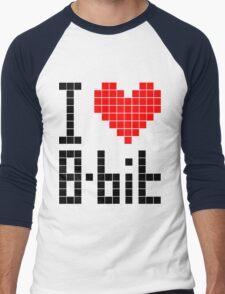 I Love 8-bit <3 Men's Baseball ¾ T-Shirt