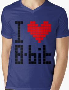 I Love 8-bit <3 Mens V-Neck T-Shirt