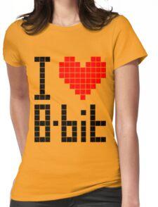 I Love 8-bit <3 Womens Fitted T-Shirt