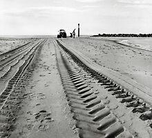 Tracks in the Sand - Sea Palling by Richard Flint