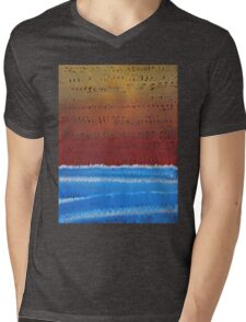Equatorial original painting Mens V-Neck T-Shirt