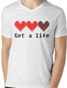 Get A Life Mens V-Neck T-Shirt