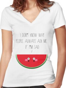 I don't know why Women's Fitted V-Neck T-Shirt