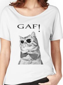 Cat Boss.Funny Cat wearing glasses.Like a boss. Women's Relaxed Fit T-Shirt