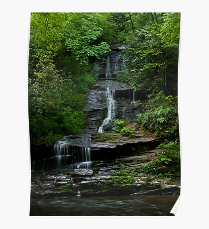Tom's Branch Falls - Smoky Mountains Poster