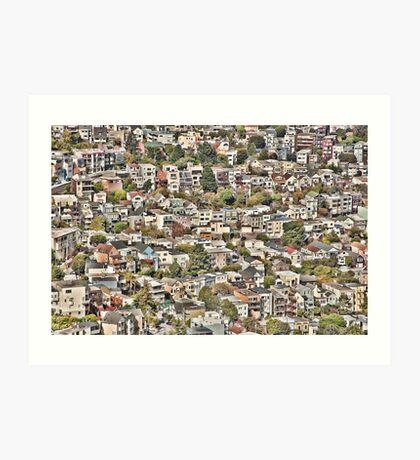 San Francisco Houses Art Print