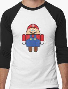 Super Droid Bros. Mario Men's Baseball ¾ T-Shirt