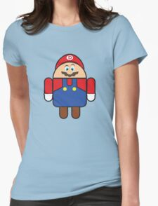 Super Droid Bros. Mario Womens Fitted T-Shirt