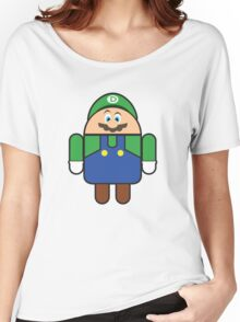 Super Droid Bros. Luigi Women's Relaxed Fit T-Shirt