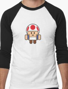 Super Droid Bros. Toad Men's Baseball ¾ T-Shirt