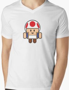 Super Droid Bros. Toad Mens V-Neck T-Shirt