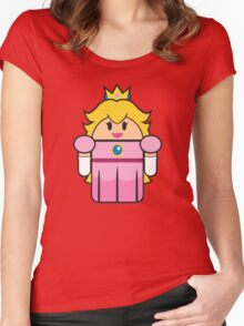 Super Droid Bros. Princess Peach Women's Fitted Scoop T-Shirt