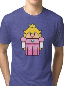 Super Droid Bros. Princess Peach Tri-blend T-Shirt