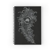 White Peacock Spiral Notebook