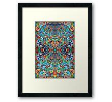 Colorful Atom. Framed Print