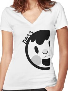 Ness Neff Parody v2 Women's Fitted V-Neck T-Shirt
